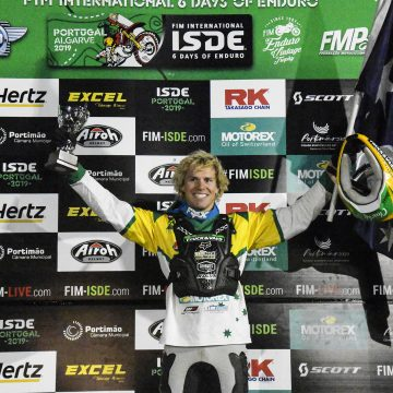 Daniel Sanders on top of the world at 2019 ISDE