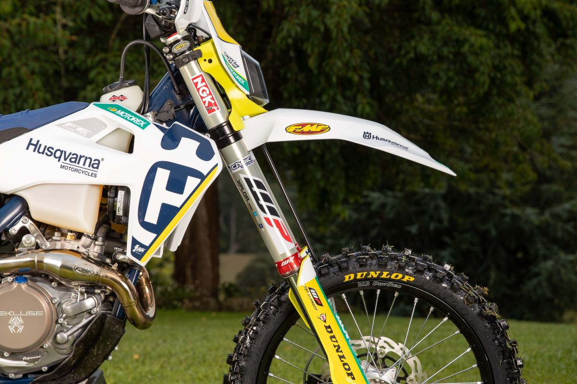 Daniel Sanders during the 2020 Husqvarna Offroad Team photoshoot.  Image Details Camera: Canon Canon EOS-1D X Mark II Lens: Canon EF 24-70mm f/2.8L II USM f 4.5 1/250 sec ISO 250 Credit: Marc Jones Date: 5 February 2020